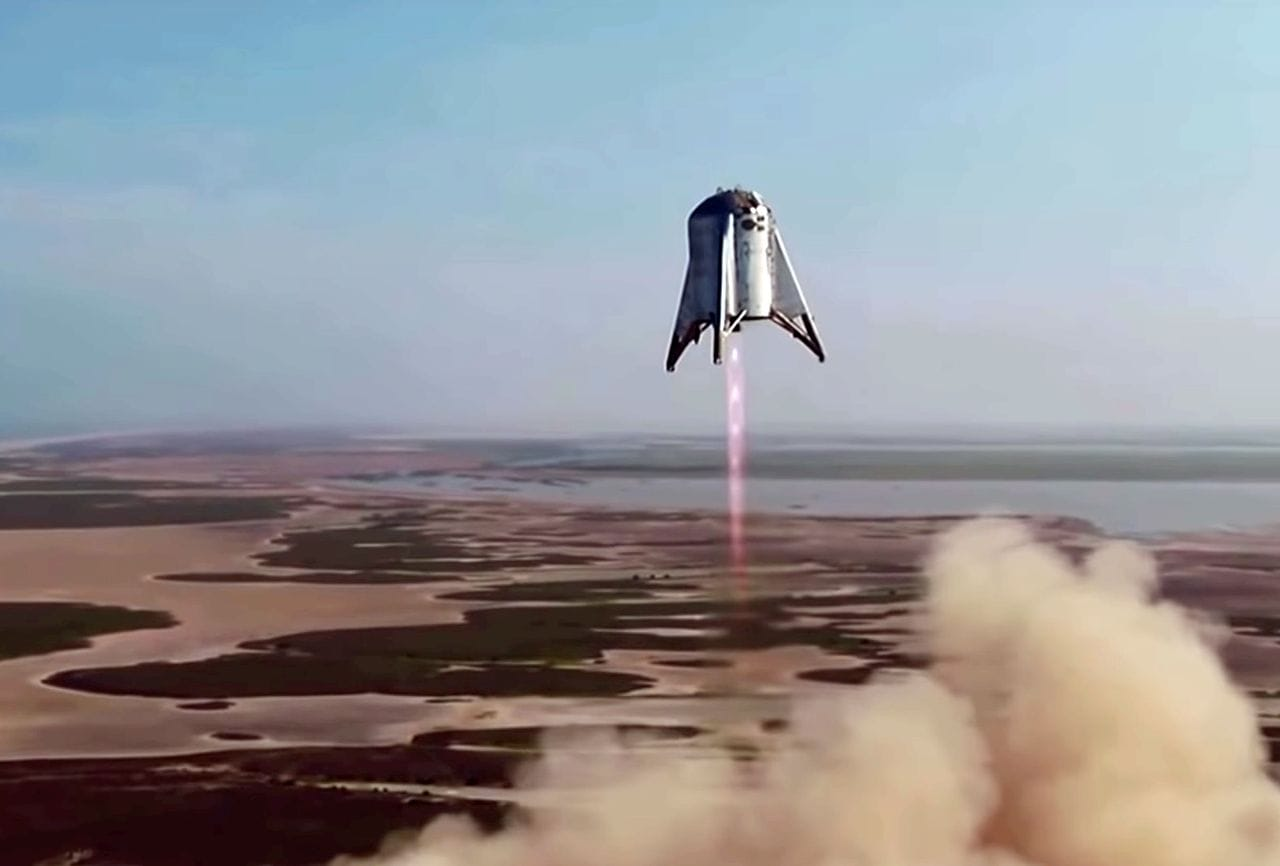 SpaceX's StarHopper flying with a 3D printed rocket engine [Source: SpaceX]