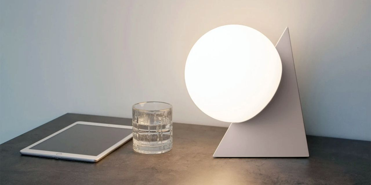 The PyraSphere Table Light resembles a quality consumer product made with traditional fabrication processes. (Image courtesy of Gantri.)