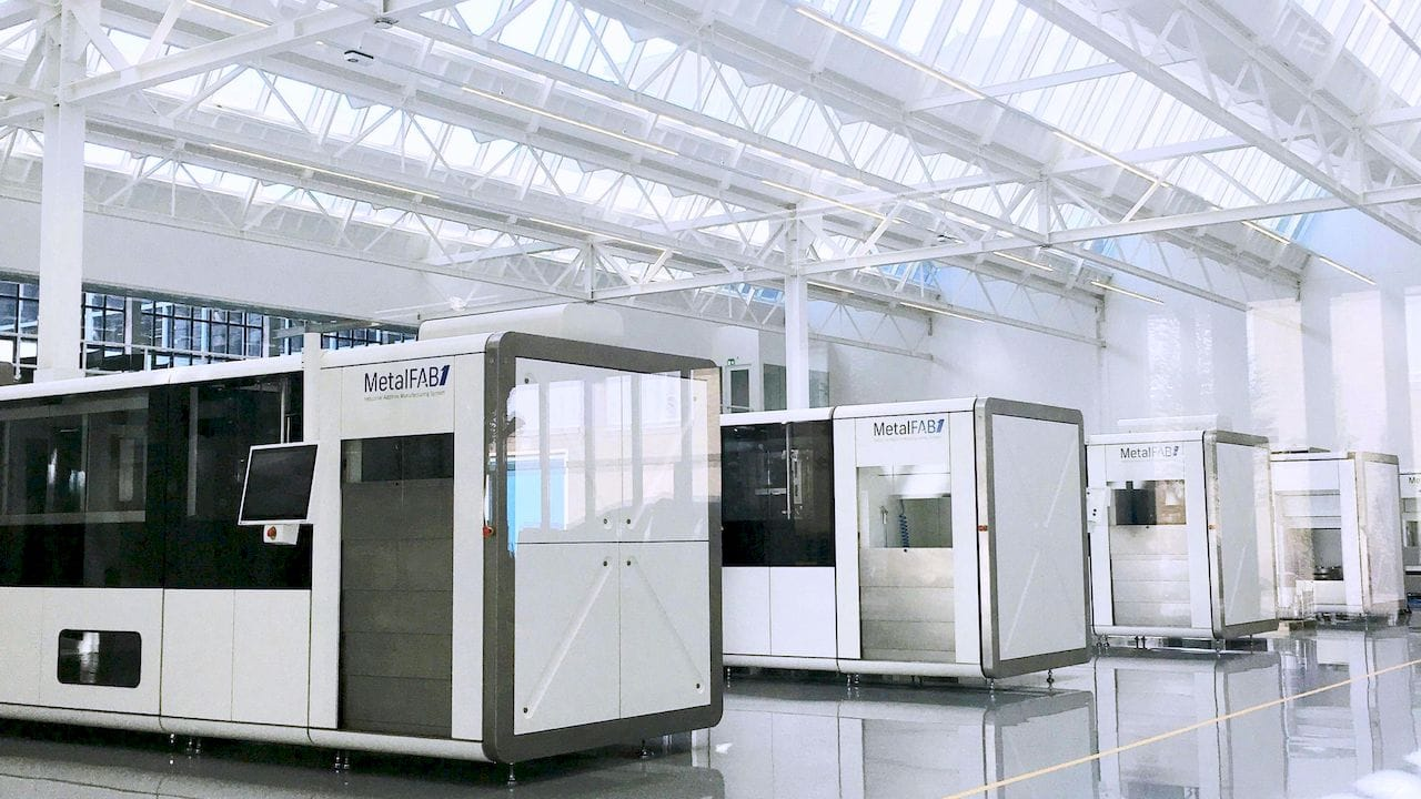 Multiple MetalFAB1 metal 3D printing systems [Source: Additive Industries']