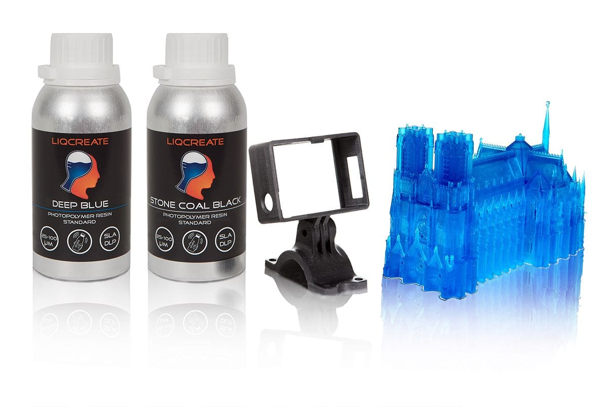 3D printer resins and prints [Source: Liqcreate]
