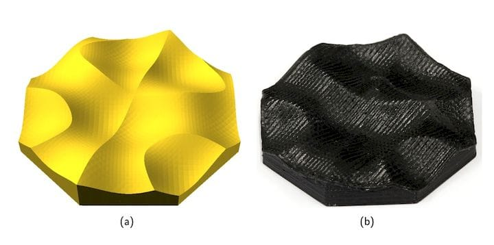 Example of non-planar 3D printing showing smooth surfaces [Source: University of Hamburg]