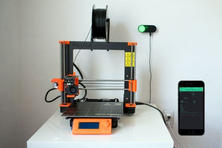 A VOC sensor system installed on a 3D printer [Source: Hackaday]