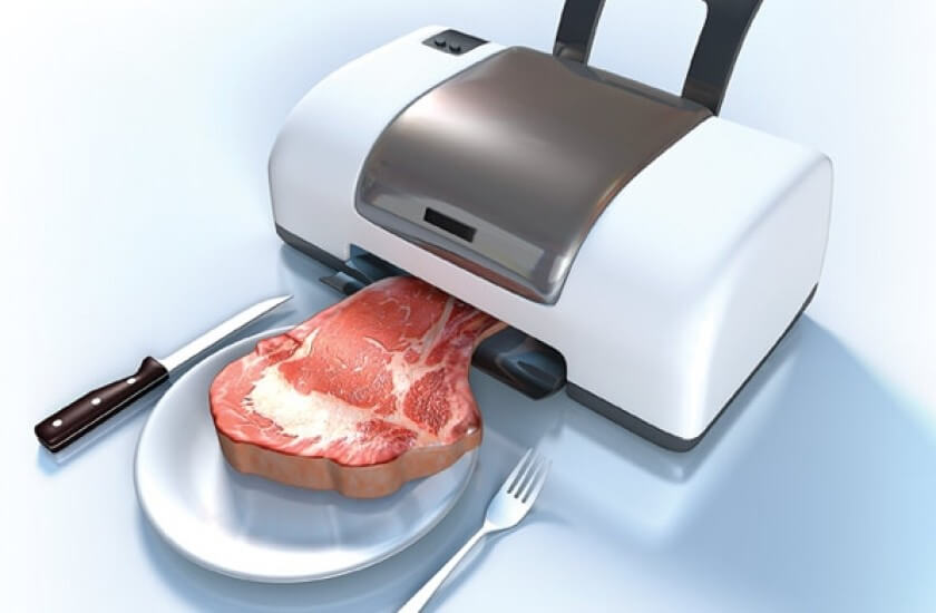 Get it? It's a meat printer. I've seen this image circulating since at least 2014.