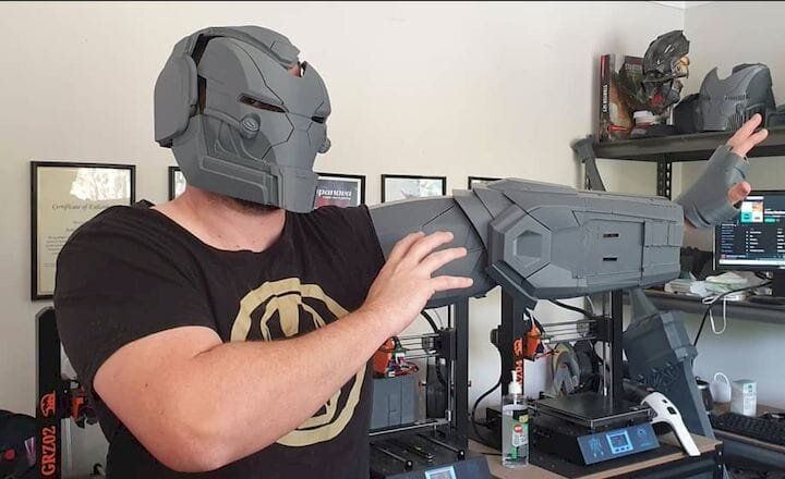 3D printed Aduin Wryn cosplay outfit parts testing [Source: Grizzly Tech]