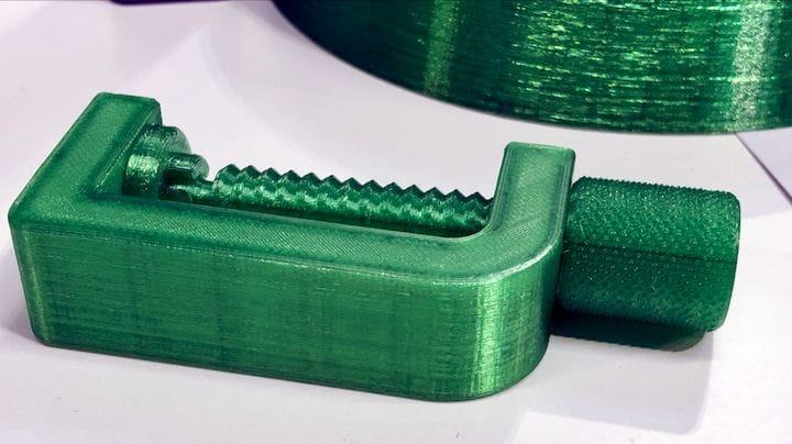 Brilliant PET 3D print made from entirely recycled thermoplastic by RE PET 3D [Source: Fabbaloo]