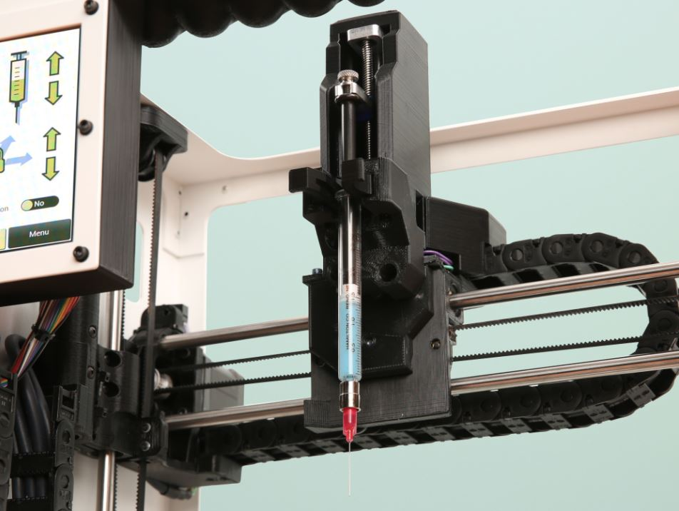 The LulzBot Bio's FDF syringe pump system [Image: Aleph Objects]