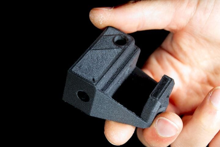 A 3D printed nylon carbon fiber part by Hydra Research's Nautilus 3D printer [Source: Hydra Research]