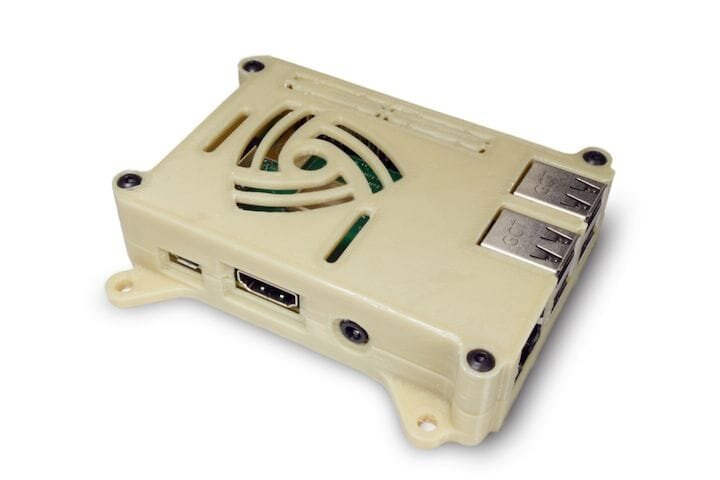 A 3D printed Pi case in vinyl material by Hydra Research's Nautilus 3D printer [Source: Hydra Research]