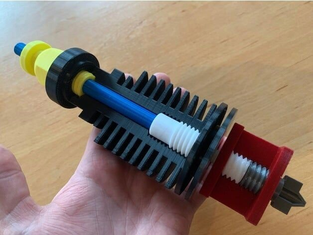 A giant 3D printed 3D printer hot end [Source: Thingiverse]