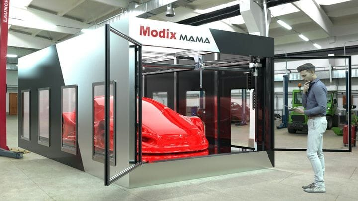 Concept for the upcoming Modix MAMA car-sized industrial 3D printer [Source: Modix]