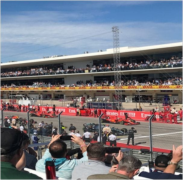 US Grand Prix starting line in Austin TX [Source: Photo by Ian D. Brown]