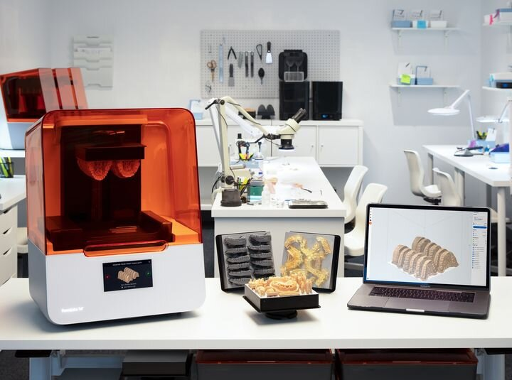 The new Form 3B dental 3D printer in a dental lab [Source: Formlabs]