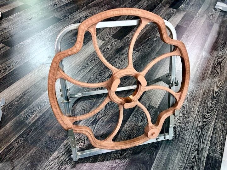 Copper part made by Spee3D [Source: Fabbaloo]