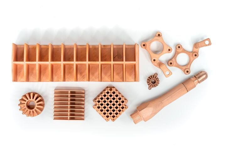 Copper metal 3D printed parts [Source: Markforged]