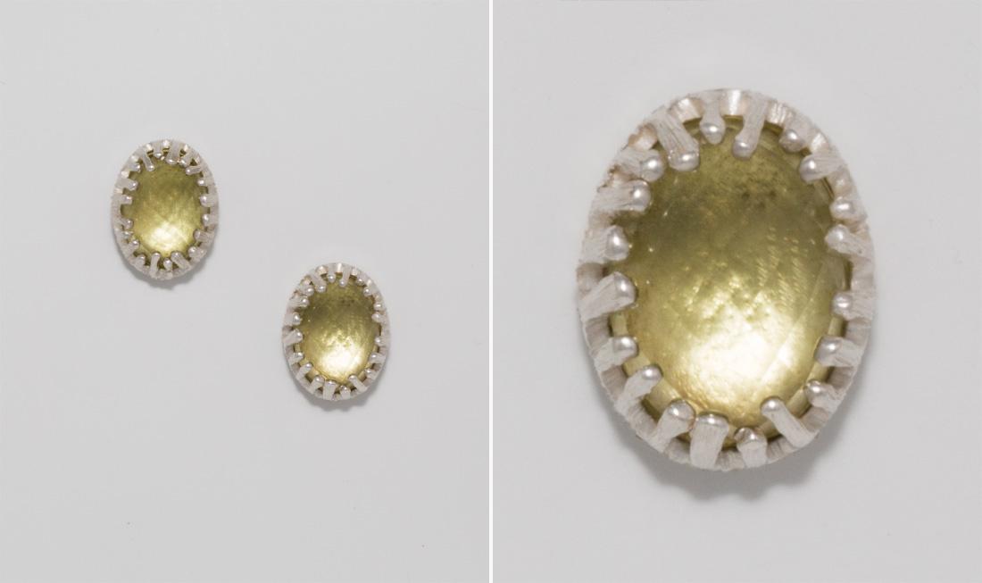 Silver & Lemon Quartz Earrings