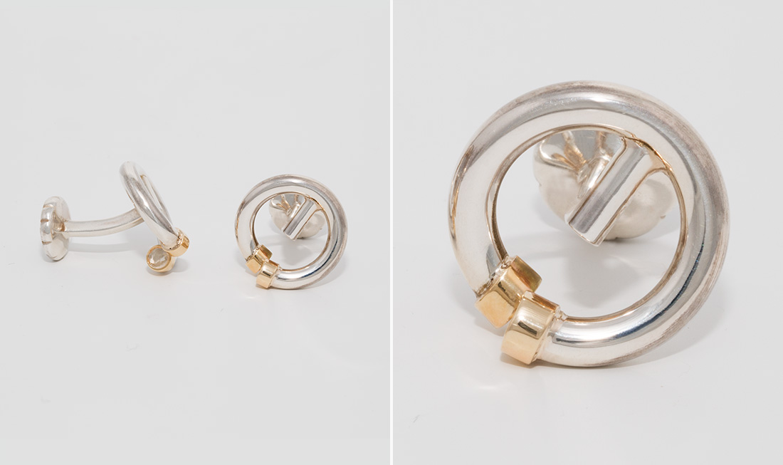 Gold & Silver Circle Cufflinks