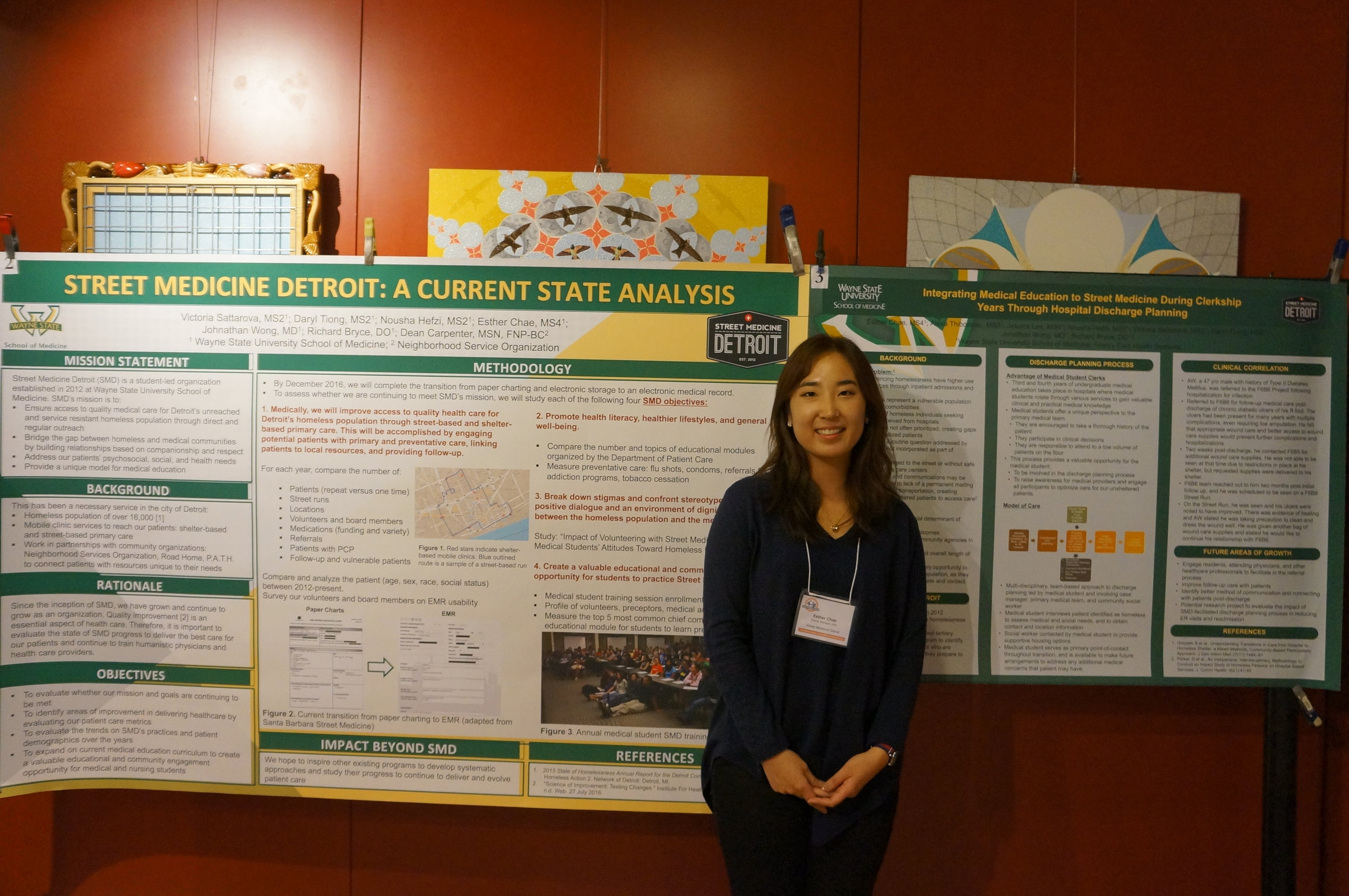 Esther Chae presenting research conducted at Wayne State SOM at the 2016 ISMS.