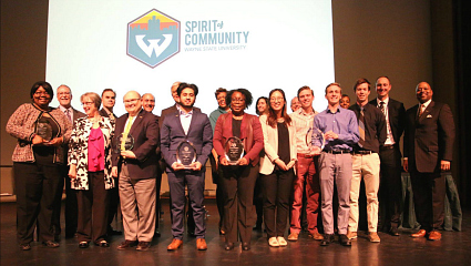 Wayne State's first Spirit of Community awards honor School of Medicine faculty and students - Apr 2017