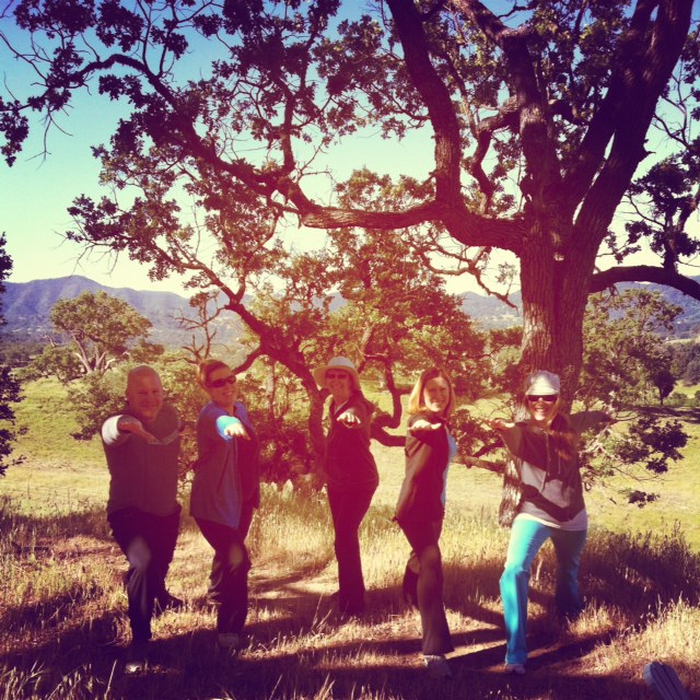 Yoga Retreat Guests in California wine country.
