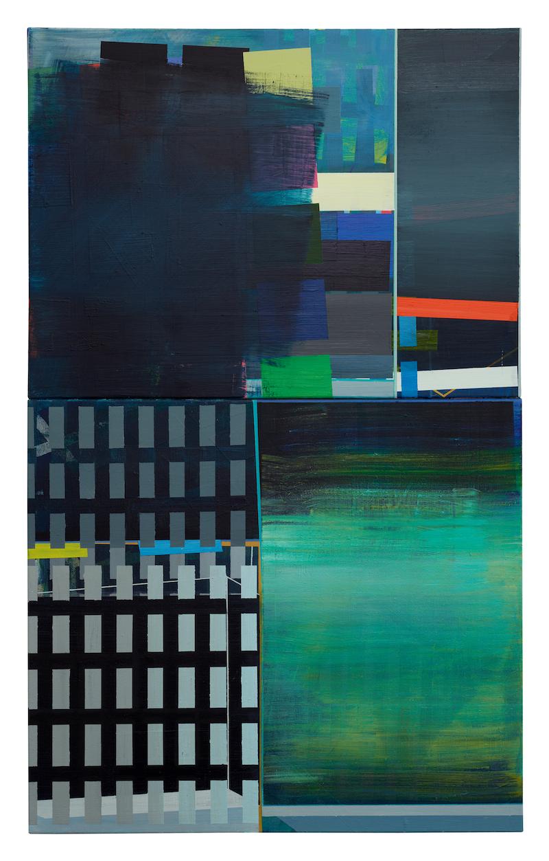 Subway  ·  130 x 80 cm · Acryl, Pigment auf Leinwand, 2011
