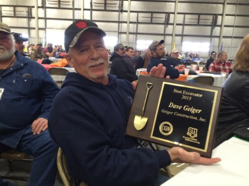 Dave Geiger - Excavator of the year 2015