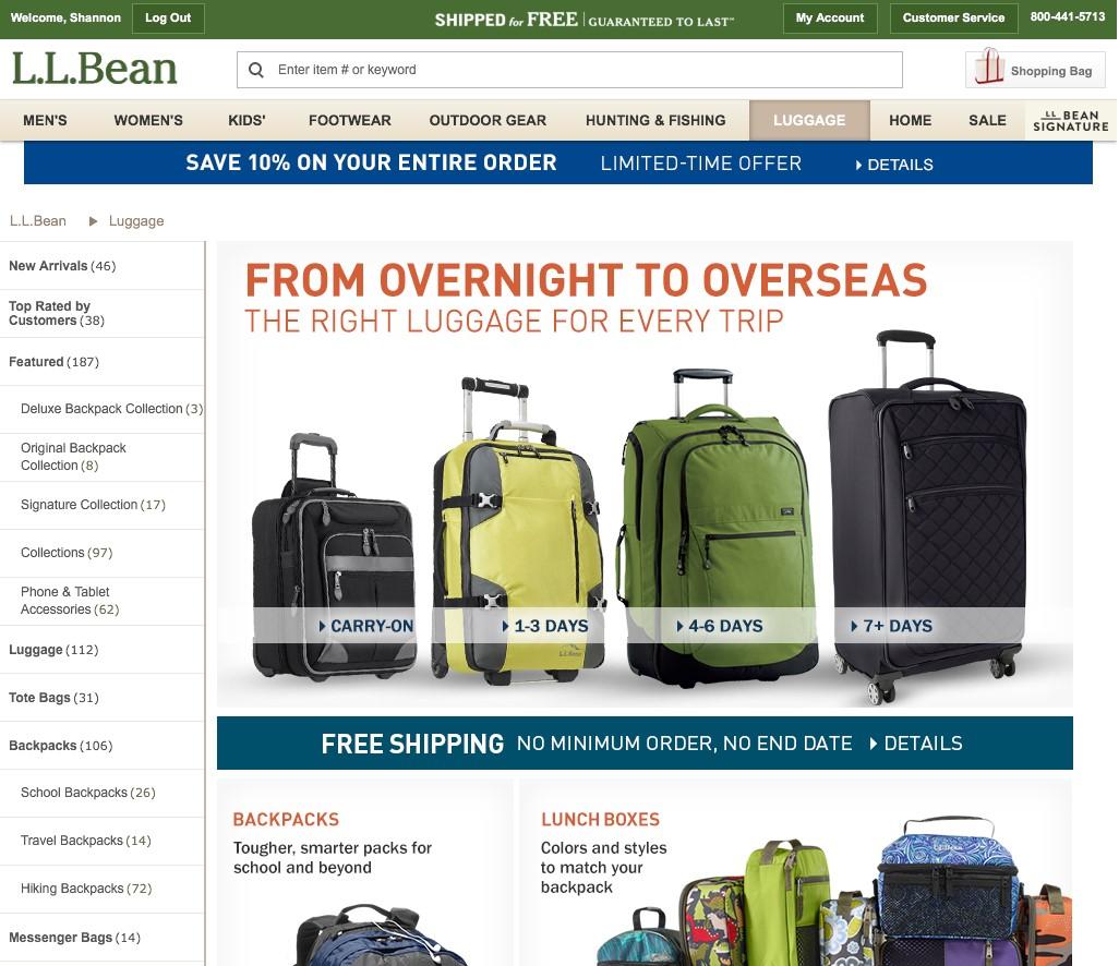 L.L.Bean Responsive Site