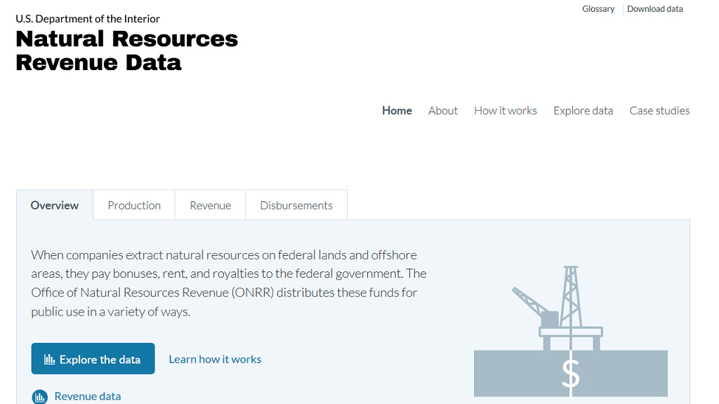 Natural Resources Revenue Data Portal   I am currently an Innovation Specialist with the U.S. Department of the Interior's Office of Natural Resources Revenue focused on user experience. This  blog pos t is a good demonstration of the work I'm doing for them and you can view all of my work on  GitHub .   Tasks:   User research , participant recruitment,  user type definition , conceptual design, detailed interaction design, visual design, build reviews   Deliverables:  User research  guides ,  plans  and  findings , high and low fidelity Axure prototypes, journey maps & process diagrams