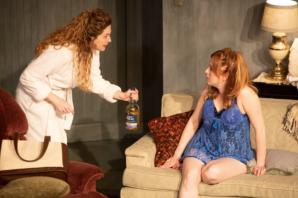 "Heidi Fellner and Emily Dussault in Minnesota Jewish Theatre Company's ""The Last Schwartz"" (Photo Credit: Sarah Whiting)"