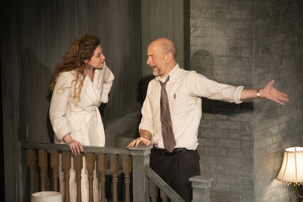 "SARAH WHITING. Above: Heidi Fellner and Matt Sciple in ""The Last Schwartz."""