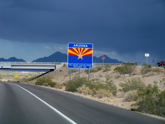 Hello again Arizona; they never welcome you when you enter California; they just make you pull over and ask questions and you better have the right answers!
