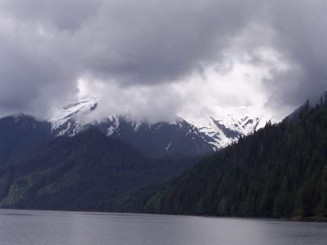 Rugged coastal mountains