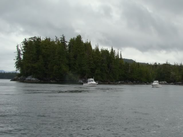 Trolling for salmon in Edye Passage, off the north side of Porcher Island.