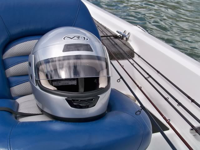 One of the best pieces of equipment I have in my boat. Gunny is absolutely correct; keeping your head dry and the best vision possible in the worst conditions, the full helmet cannot be beat. Until you use one you do not know what you are missing. Thanks Gunny you are the man!