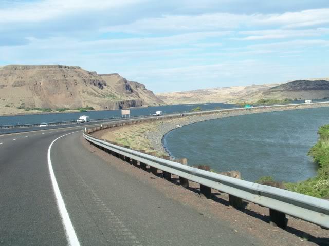 Interstate 84 near the Deschutes River