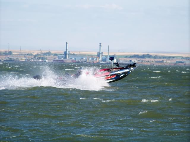 It is not good for bass boating, the river current flows west, the wind blows east