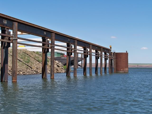 Manmade structure with deep water access