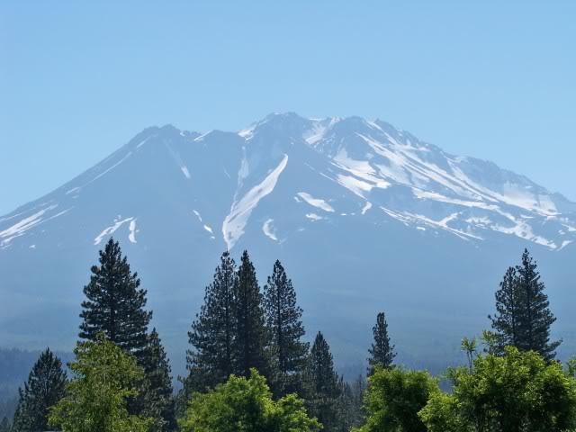 North side of Mt. Shasta