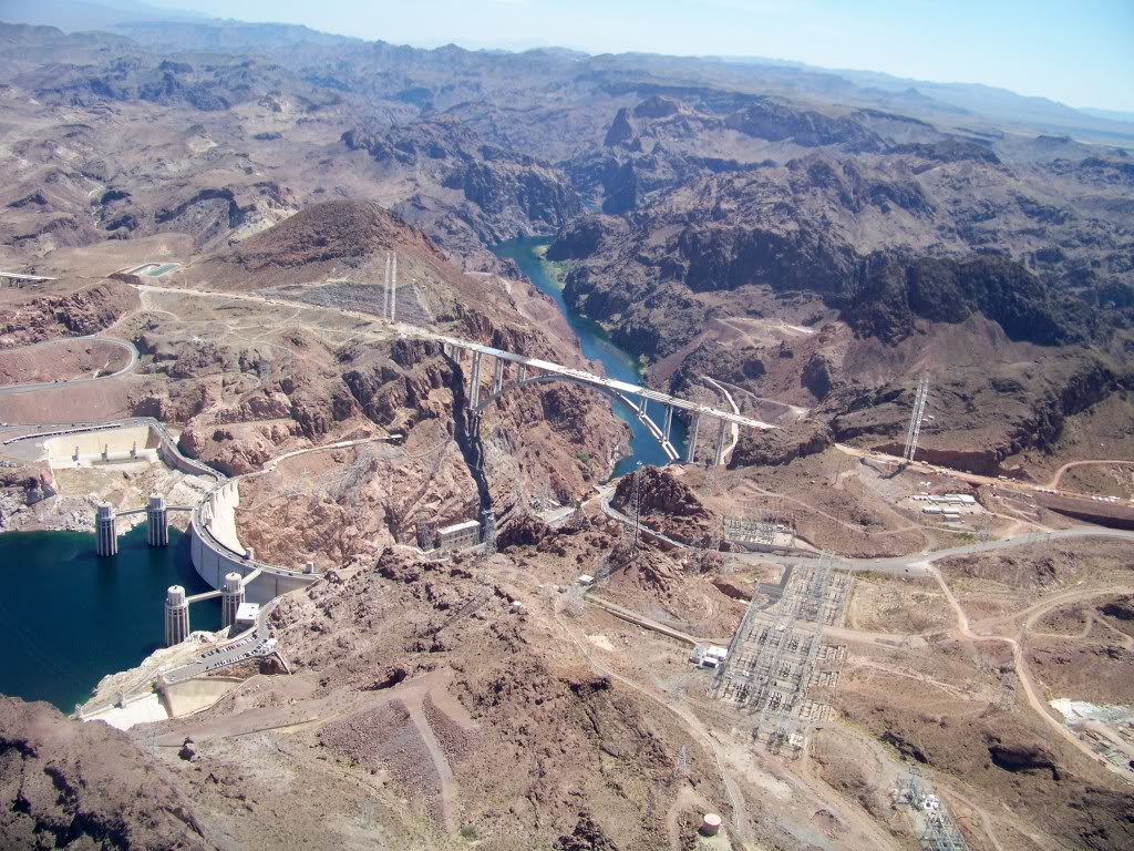 Completed in 1936 the concrete which forms Hoover Dam would be enough to create a 4 foot wide sidewalk that would span the Earth's equator.