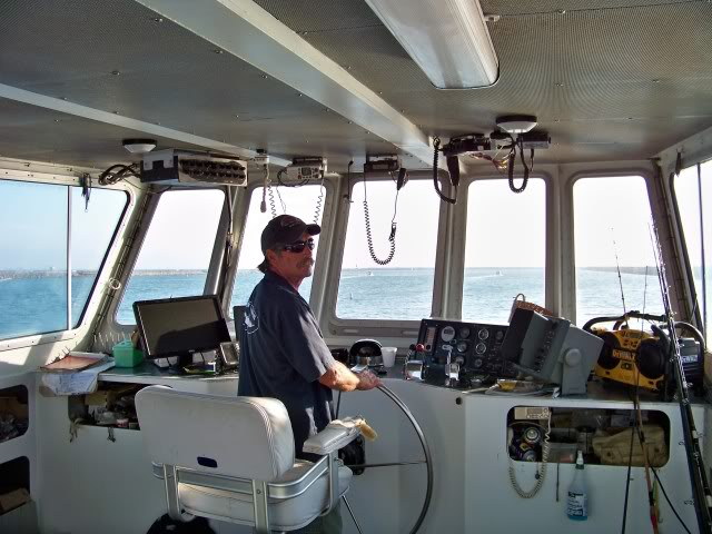 Captain Steve at the helm, I have a feeling he is going to put us on fish, almost out of the marina and heading into Santa Monica Bay.