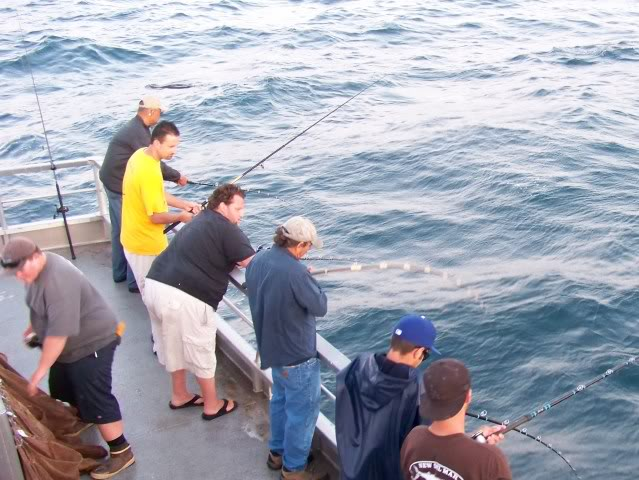 Hooked up on the portside, keep those rod tips up!