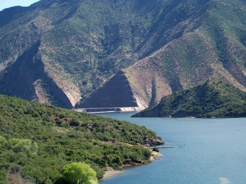 Completed in 1973 Pyramid was created by placing a dam along Piru Creek.
