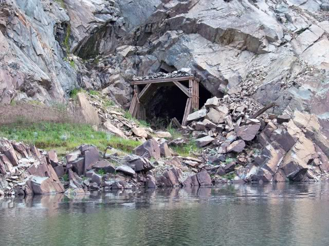 Railroad Tunnel near French Creek; high water and this piece of structure will be submerged
