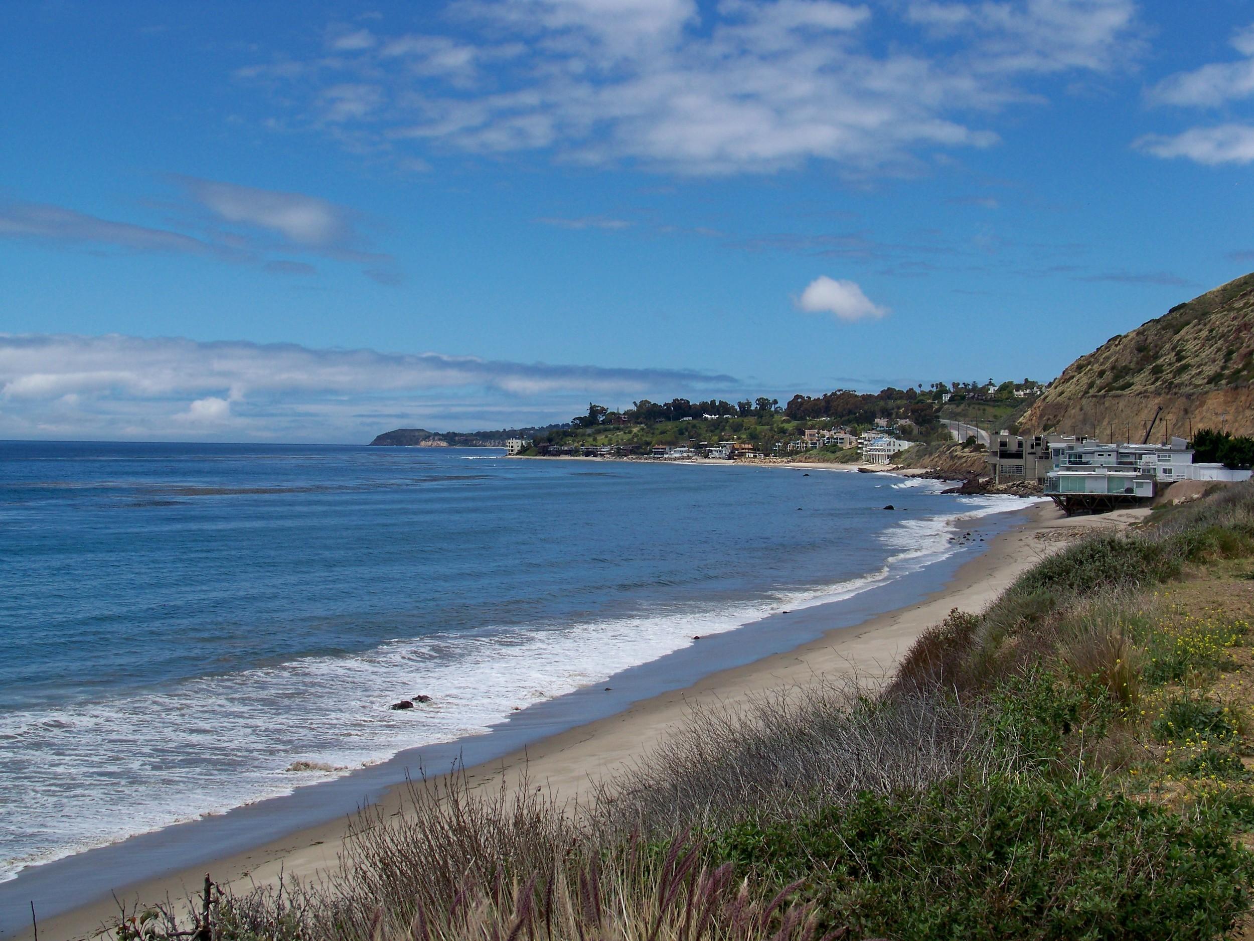 Malibu Shoreline Kanan Dume Peninsula in the Far Distance