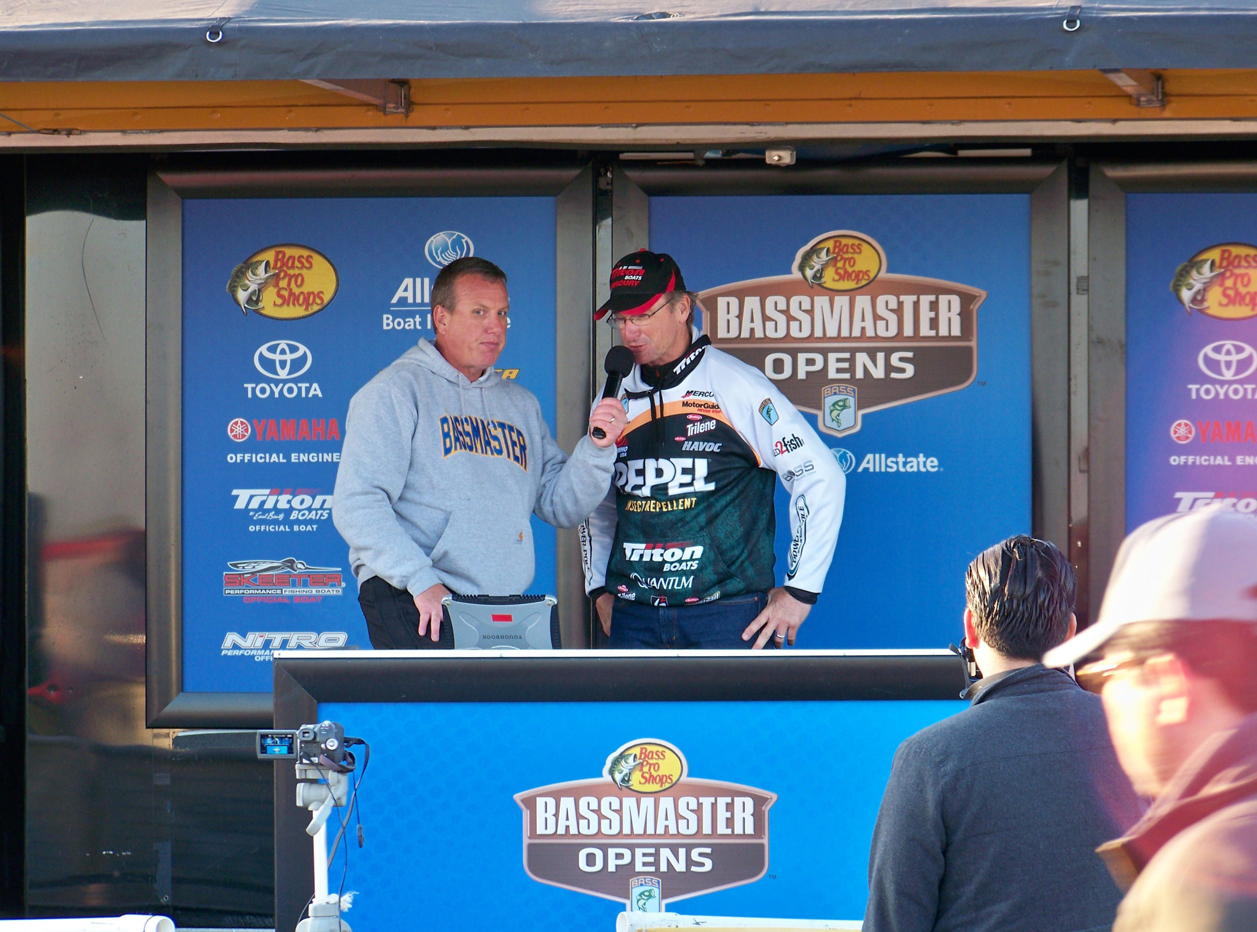 Elite Series Angler Gary Klein Re-capping Day Two with T.D. Chris Bowes