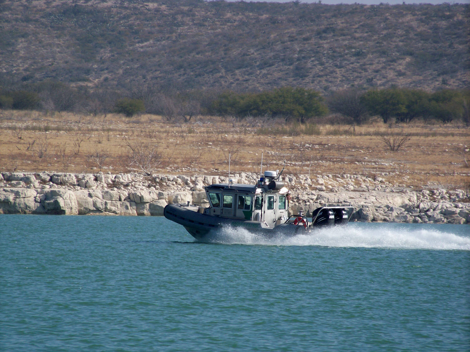 U.S. Border Patrol, behave yourself. There should be several Go Pro's on that ride!