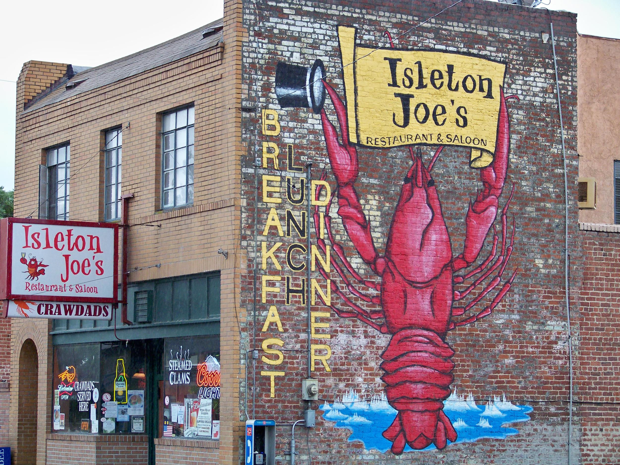 Isleton, home of the Crawdad Festival. At the Delta crawdad red is a well known successful pattern for a multitude of lures