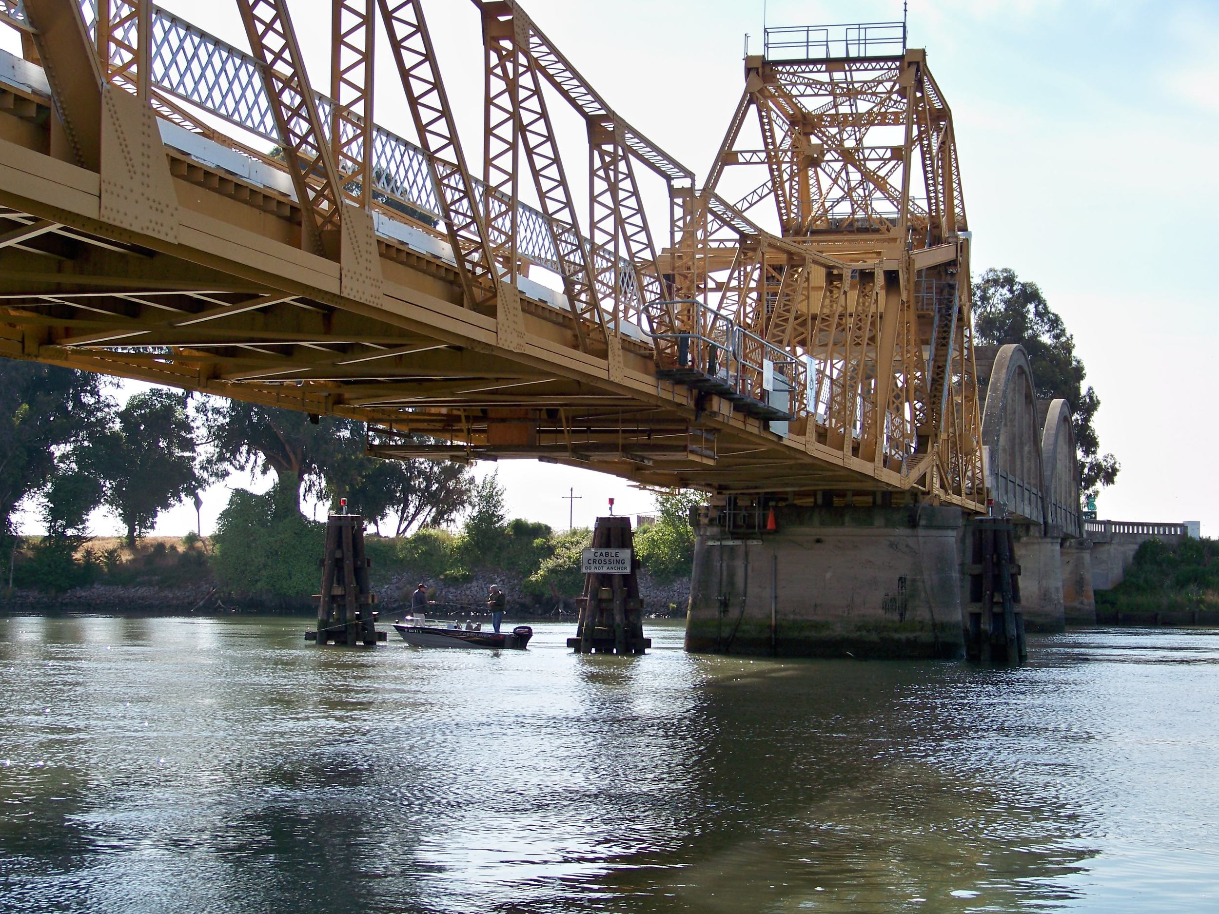 One of the many bridges that rotate for ship and large boat traffic