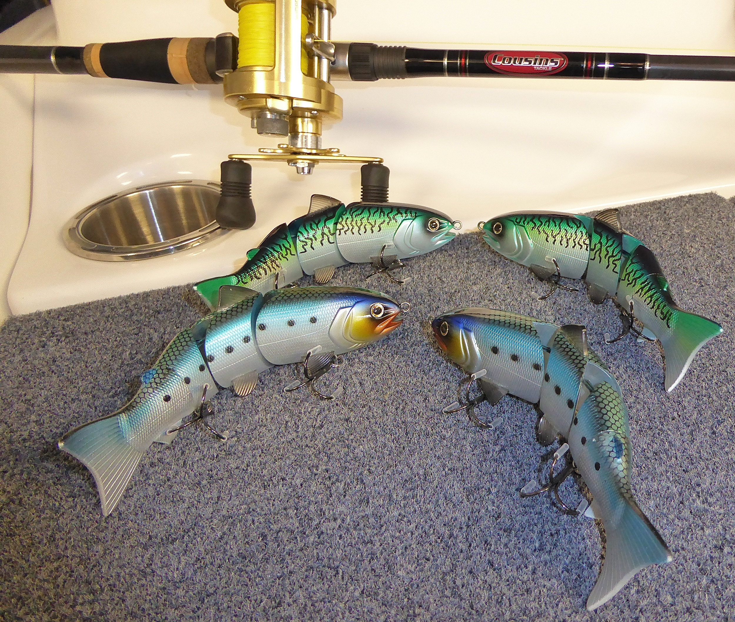 """These are all 6"""" BBZ-1 baits. The ones in the fore ground look a little bigger because of depth."""