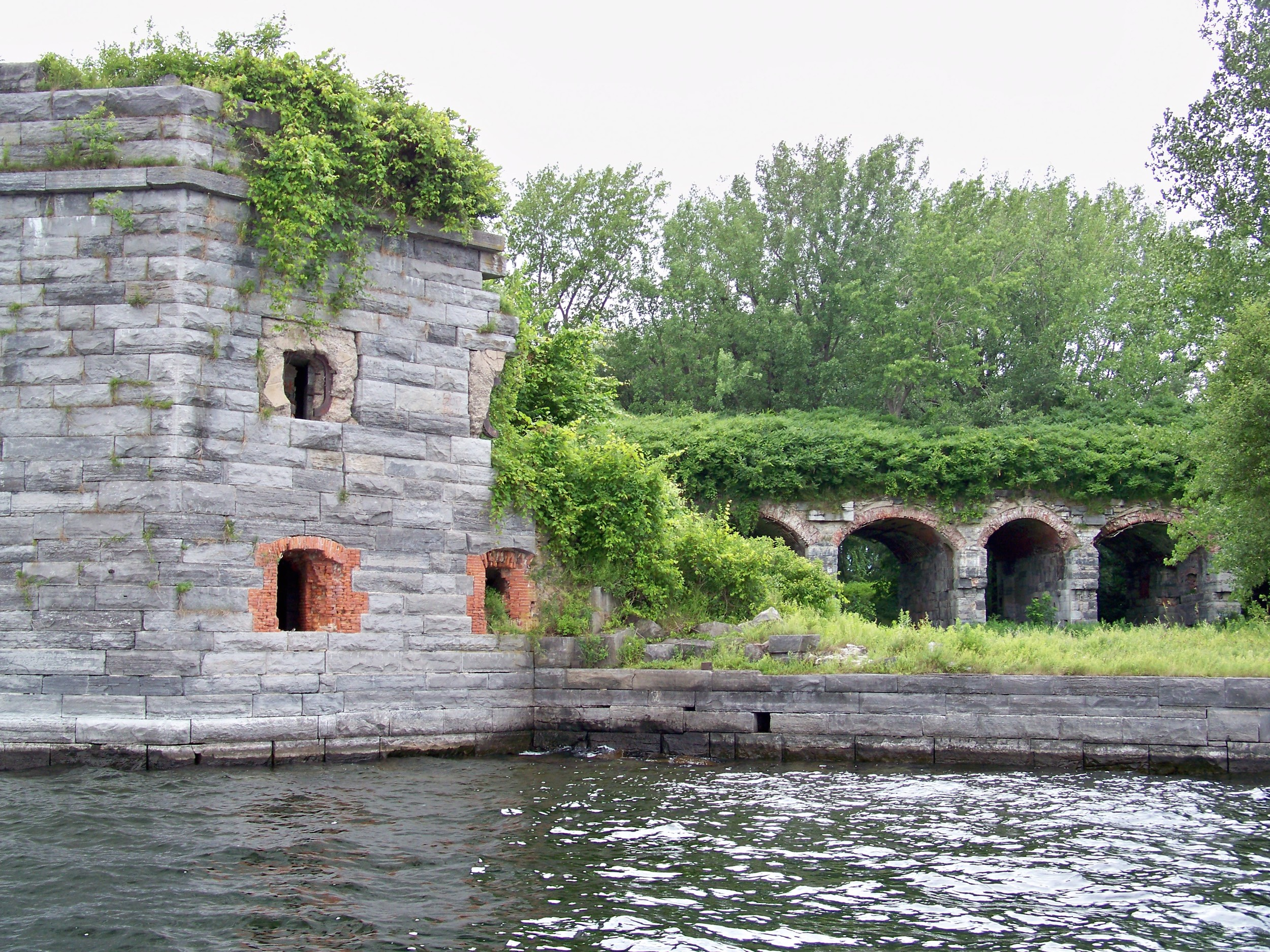 Fort Montgomery ruins, on the shoreline of Rouses Point New York, is located just south of the U.S. Canadian border.