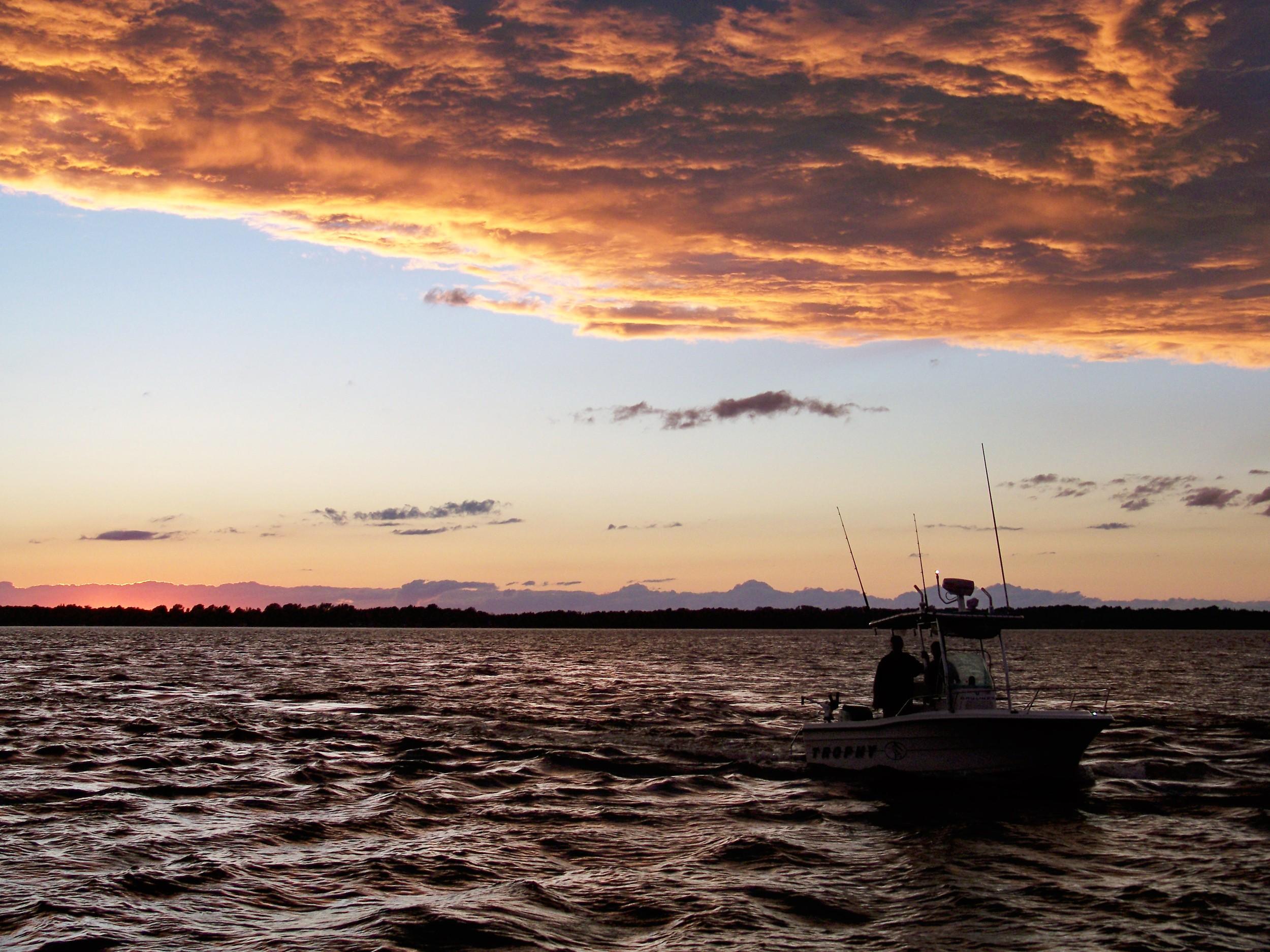 Champlain will reward you with beautiful sunsets.